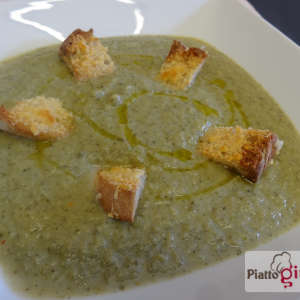 crema broccoli crostini parmigiano