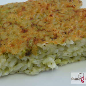 gratin di riso broccoli e scamorza affumicata