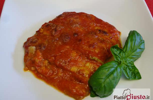 Parmigiana di zucchine fritte