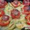 Pomodori ripieni di riso filanti con patate