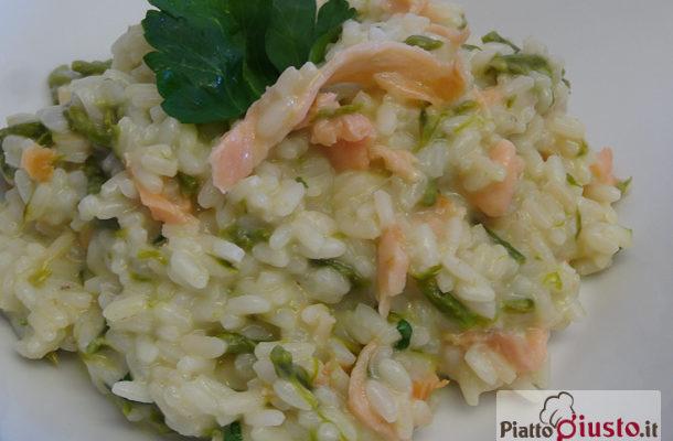 Risotto asparagi e salmone mantecato al mascarpone