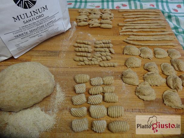 Pasta fatta in casa con farina di grano duro Senatore Cappelli