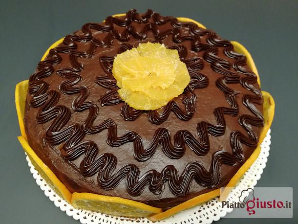 Torta arancia,rum e cioccolato tipo Fiesta